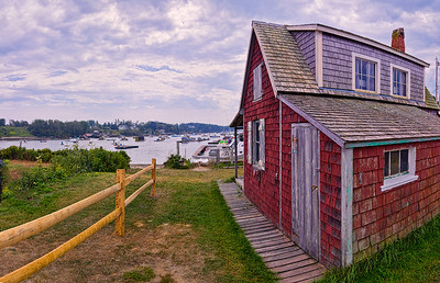Red House at Mackerel Cove, Bailey Island, panorama