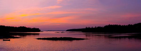 Northwest Harbor, Deer Isle, Maine Panorama