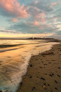 Ferry Beach Surf at Sunset 5832