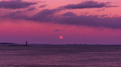 Ram Island Light Moonrise