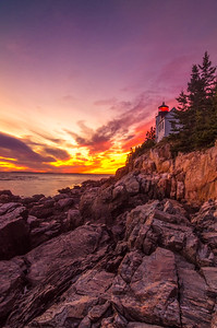 Bass Harbor Light at Sunset 2