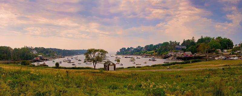 Mackerel Cove, Bailey Island, Maine Panorama 2