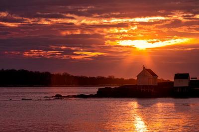 November Sunset, Willard Beach, Maine