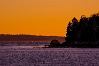 Causeway Beach Sunset, Deer Isle, Maine