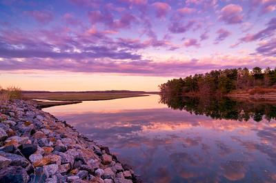 Scarborough Marsh at Sunset