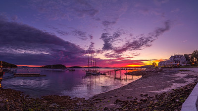 October Sunrise in Bar Harbor, Maine Panorama