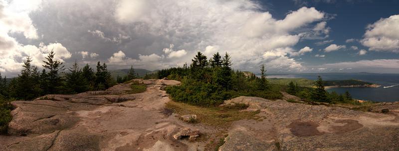 180 degree Gorham Mountain Summit Panorama