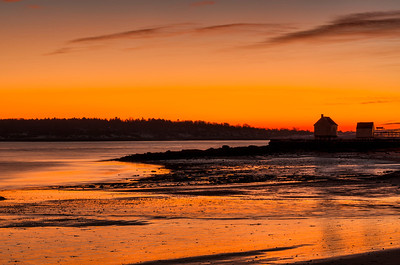 Willard Beach before dawn, January 2014, South Portland, Maine.
