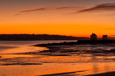 Willard Beach before dawn, January 2014, South Portland, Maine.