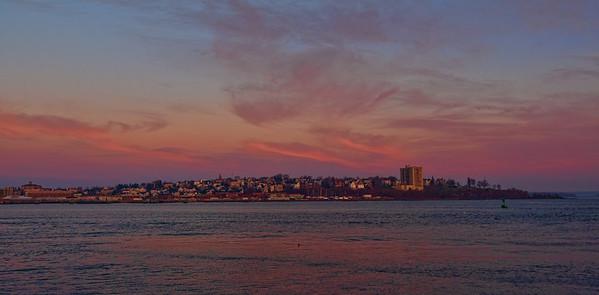 Portland Skyline Sunrise Panorama