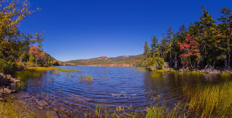 Upper Hadlock Pond, Acadia National Park, Maine Panorama