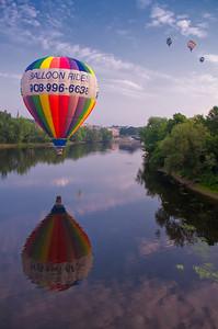 Great Falls Balloon Festival over the Androscoggin River 2
