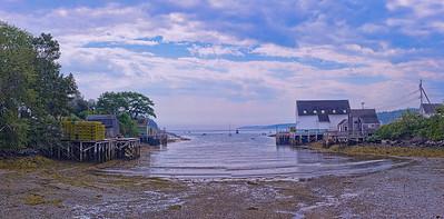 Lowell's Cove, Bailey Island, Maine Panorama