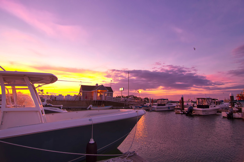 August Sunset over South Portland Marina