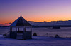 East End Bandstand on a below zero dawn, Portland, Maine.
