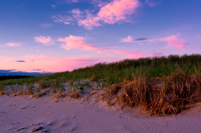 Pink Clouds Over Ferry Beach, Maine