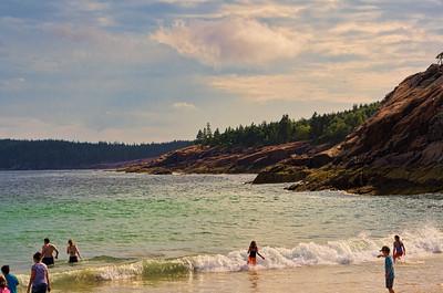 Enjoying Sand Beach, Acadia National Park