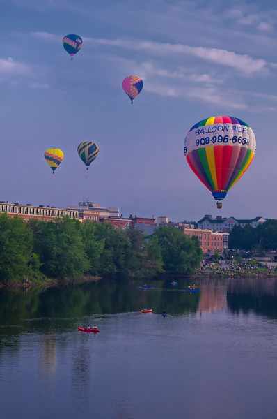 Great Falls Balloon Festival over the Androscoggin River 1
