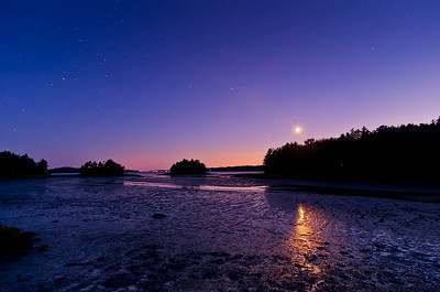 Harpswell at Low Tide by Moonlight