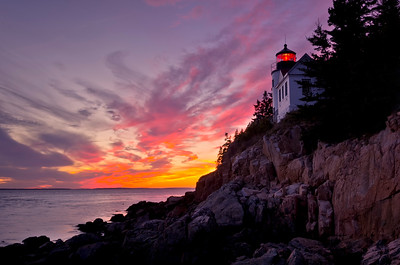 Bass Harbor Light at Sunset 1