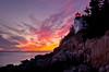 Bass Harbor Light at Sunset 1