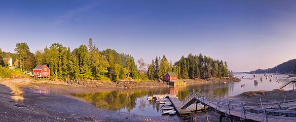 Buck's Harbor Panorama 1