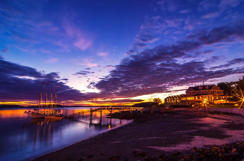 Bar Harbor October Twilight Before Dawn