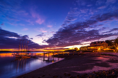 Bar Harbor October Twilight Before Dawn