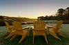 Adirondack Chairs at Sunrise, River Road, York 1