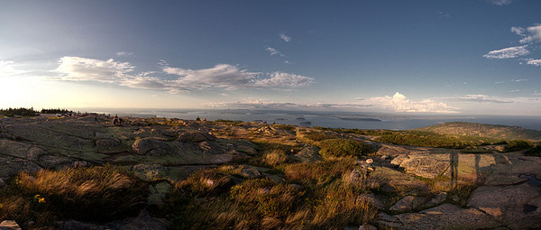 Porcupine Islands from Cadillac Summit Panorama