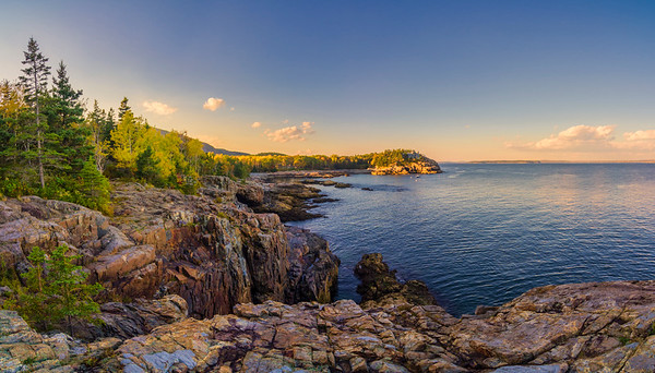 Schooner Head, Acadia National Park Panorama