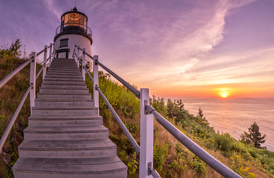 Owl's Head Light Dawn Panorama 2, Owl's Head, Maine