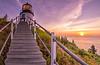 Owl's Head Light Dawn Panorama 2, Owl's Head, Maine
