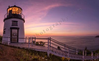 Owl's Head Light Dawn Panorama 1, Owl's Head, Maine