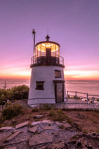Pre-Dawn Light at Owl's Head Light, Maine 2