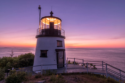 Pre-Dawn Light at Owl's Head Light, Maine
