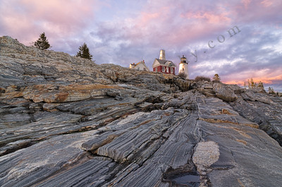 Pemaquid Point Light Sunset, Maine