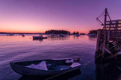 Snowy Boat Before Dawn, Five Islands, Georgetown, Maine