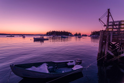 Snowy Boat Before Dawn, Five Islands, Georgetown, Maine