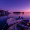 Two Boats Before Dawn, Five Islands, Georgetown, Maine.