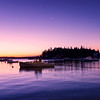 Five Islands in the Twilight before dawn, Georgetown, Maine