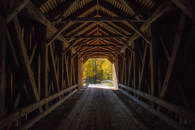 Guildford Covered Bridge Interior, Guilford, Maine