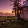 Misty Morning at Driftwood Cabin, Wilson's on Moosehead, Maine