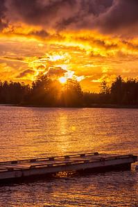 Golden Sunrise, Moosehead Lake, Maine