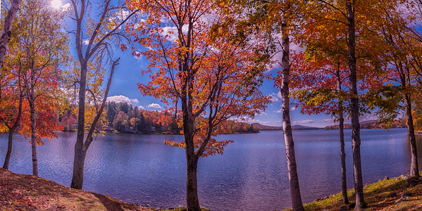 The Colors of Fall, Moosehead Lake Panorama, Maine