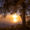 Golden Mist at Moosehead Lake, Maine