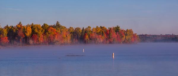 Moosehead Lake on a Misty Autumn Morning
