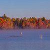 Moosehead Lake on a Misty Autumn Morning