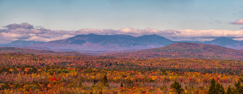 Moosehead Lake area Mountain Range Panorama, Maine