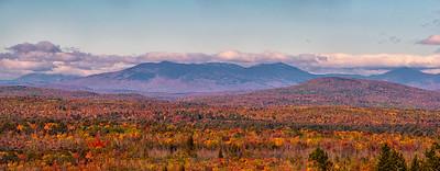 Moosehead Lake area Mountain Range Panorama, Maine